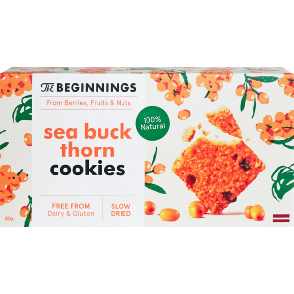Biscuiti Vegani cu Catina, fara Gluten, The Beginnings, 80 gr